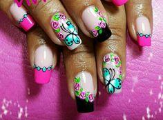 Nails Toe Nails, Pink Nails, Chevron Nails, Nails Only, French Tip Nails, Lovers Art, Nail Colors, Nail Art Designs, Finger