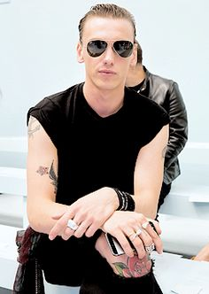 Jamie Campbell Bower attends the Hunter Original SS 2015 catwalk show on September 13, 2014 in London, England.