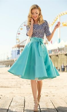 I just love the flared skirt!