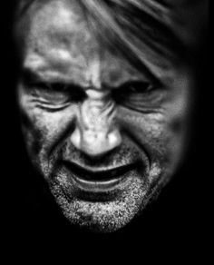 Test photo by David Slade of Mads Mikkelsen for the Wendigo's expression.
