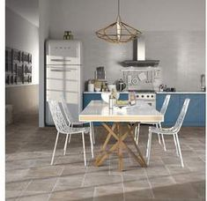 Buy Porcelain Modular Floor Tile - Rustic Brown at Argos. X 23, Brown Kitchen Designs, Brown Kitchens, Rustic Home Design, Tiles Texture, Wall And Floor Tiles, Simple House, Traditional House, Cheap Home Decor