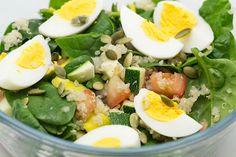 Quinoa Salad with Egg, Spinach and Avocado