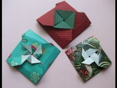Easy origami square flower envelope with secret message inside mightylinksfo Choice Image