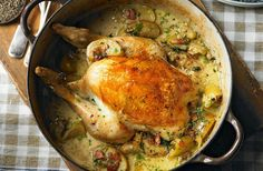 A simple Normandy pot-roast chicken with apples recipe for you to cook a great meal for family or friends. Buy the ingredients for our Normandy pot-roast chicken with apples recipe from Tesco today. Roast Chicken Recipes, Turkey Recipes, Chicken Meals, Dinner Recipes, Tesco Real Food, Sunday Roast, Sweet Home, Spinach Stuffed Chicken, Pot Roast