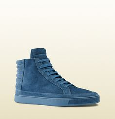 5b70c6690 Gucci - suede high-top sneaker 378989CRJ004239 Shoes Sandals, Shoe Boots, Top  Shoes