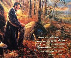 Lincoln prays