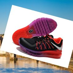 Nike Air Max 2015 Scarpe Nero Rosso Viola Donne Vendita,Good quality!You are worthy to wear it .