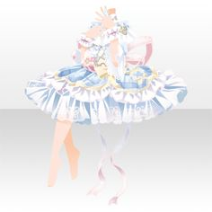 Dress Drawing, Drawing Clothes, Character Costumes, Character Outfits, Cute Animal Drawings, Cute Drawings, Anime Dress, Cocoppa Play, Female Character Design