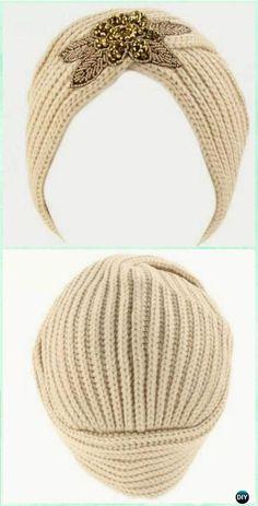Crochet Hollywood Style Turban Hat Free Pattern - Crochet Turban Hat Free Patterns
