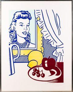 Roy Lichtenstein (1923-1997) Still Life with Portrait, 1974 | Live Auctioneers