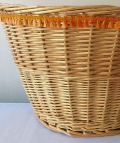 A personal favorite from my Etsy shop https://www.etsy.com/listing/577688676/wicker-bike-basket-with-orange-fringe