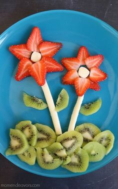 flower snack plate | 25+ Cute & Healthy Snacks #healthysnacks