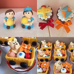 Trufas, Cupcakes e pirulitos para festa brinquedos vintage. #benditosbrigadeiros #doces #docespersonalizados ...