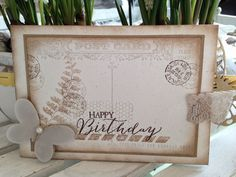Stampin' Up! Post Card  Stampin' Up! Butterfly Basics