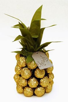 anleitung f r eine ferrero rocher ananas palme. Black Bedroom Furniture Sets. Home Design Ideas