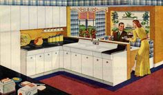 Still available: American Kitchen brand faucet for Raymond Loewy sink - Retro Renovation Country Kitchen Sink, Vintage Kitchen Sink, Metal Kitchen Cabinets, 1940s Kitchen, Kitchen Soffit, Vintage Sink, Cabinets And Countertops, Retro Kitchens, Kitchen Faucets