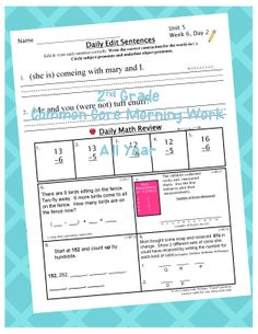 $ Yearlong 2nd Grade Common Core Morning Work.  All problems are coded with Common Core State Standards.