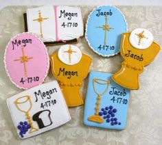 Collection Of Communion Cookie Favors http://www.alittlefavor.com/products/116/sbcommunioncollection/collection-of-communion-cookie-favors.html