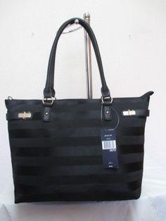 New Handbag Tommy Hilfiger Purse Ew Tote 6931027 009 Black Gold #TommyHilfiger #Totes