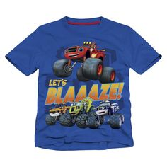 "Nickelodeon Boys Blue Blaze and the Monster Machines ""Let's Blaaaze!"" Short Sleeve Graphic T Shirt - Toddler - Extreme Concepts - Babies ""R"" Us 4th Birthday Parties, Boy Birthday, Kid Parties, Blaze The Monster Machine, Blue Blaze, Monster Truck Party, Michael S, Boy Blue, Party Cakes"