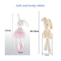 $2.71 (Buy here: https://alitems.com/g/1e8d114494ebda23ff8b16525dc3e8/?i=5&ulp=https%3A%2F%2Fwww.aliexpress.com%2Fitem%2F2017-soft-cute-plush-rabbit-35x-8cm-baby-plush-toy-obedient-sleeping-Bunny-doll-gift-free%2F32791398316.html ) Glad Gehoorzaam Konijn Slaap Kalm Pop Hot Koop 50 cm Mamamiya & Papas Baby Konijn Slaapcomfort Pop Knuffel Millie & Boris doll for just $2.71