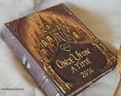 Castle weddings guest book, Once upon a time, Fairy Tale Guest Book, Fairytale wedding guest book, Castle guest book, wedding guest book