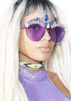 ReblKitty Purple Princess Sunnies lavender crystal sunglasses