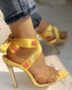 Transparent Crisscross Bandage Thin Heeled Sandals New Arrival Bikinis, Jumpsuits, Dresses, Tops, High Heels on Sale. Women's Shoes, New Shoes, Golf Shoes, Jeans Shoes, Black Shoes, Edgy Shoes, Trendy Shoes, Shoes Sneakers, Ankle Strap Heels