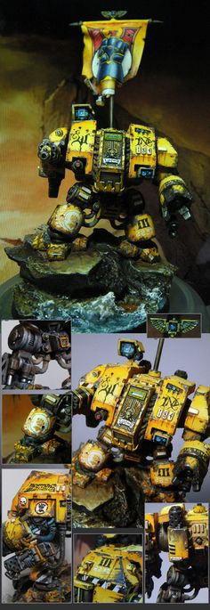 Space Marines : Imperial Fists - Exhibition of miniatures painted by other artists around the world