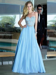 Tailored Natural Sleeveless Floor-length Sweetheart Evening Dresses - by OKDress UK