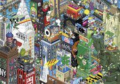 NEW YORK No. of pieces: 1500 Size: 82 x 58 cm Artist: eBoy