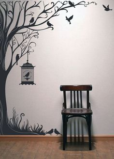 Tree Decal Wall Stickers Nature Decals Home Inch Tall Autumn Tree Wall  Stickers TYPE B Part 98