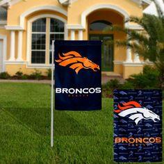 Denver Broncos Glitter Suede Garden Flag - $14.99