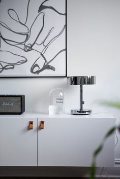 Ikea 'Bestå' with additional leather pulls & 'Stockholm 2017' table lamp