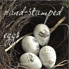 Hand-stamped eggs..... - Jennifer Rizzo