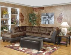 Saddle padded microfiber sectional by Serta Upholstery – My Furniture Place High Point Furniture, My Furniture, Furniture Companies, Online Furniture, Living Room Furniture, Living Rooms, Décoration Harry Potter, Chaise Sofa, Sectional Sofas