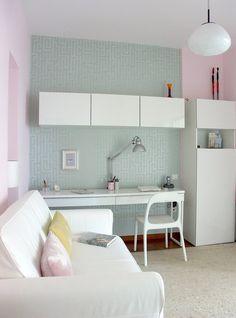 ikea white, gloss, long desk!!
