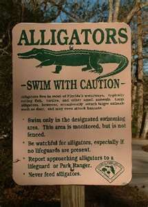 Wakulla Springs- REALLY..swim with caution. .how about swim elsewhere. .lol
