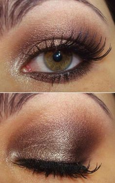 Golden brown ✖️Makeup Fashion Art Ideas✖️More Pins Like This One At FOSTERGINGER @ Pinterest✖️