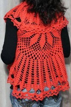 09e33cc573e54 Crochet Sweater  Crochet Circular Vest Crochet Vest Pattern