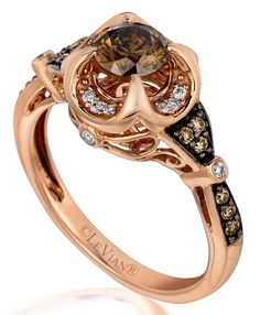 Levian chocolate diamond ring. Just one piece...Love this setting.