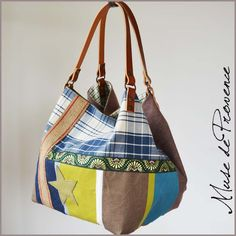 Sac cabas réversible en tissus mix and match by Muse de Provence.