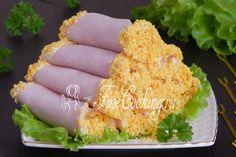 Рулетики из ветчины с сыром - рецепт с фото