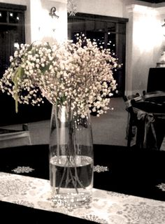 Baby's Breath Centerpiece (Haley and Brandi this is what I'm thinking of doing)
