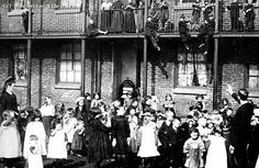 Children at Jersey Street, Ancoats, Manchester, 1900 Manchester Street, Collective Identity, Vintage Children Photos, Gibson Girl, Salford, Grand Hotel, History Facts, One And Only, Victorian Era