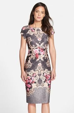 Free shipping and returns on ECI Floral Print Midi Dress at Nordstrom.com. Dazzling flower prints pop against the ornate backdrop that patterns a short-sleeve midi dress.