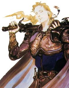 Yoshitaka Amano's Final Fantasy VI concept art / Edgar