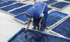 Living Blue is an exhibit of indigo textiles and dyeing from Bangladesh.