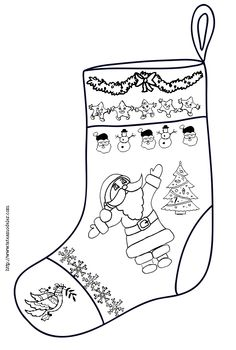 Coloriage botte Noel