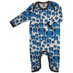 Blue Elephant Cottonsuit - ittikid • Scandinavian Children's Clothes - cool and modern kids clothes from Scandinavia